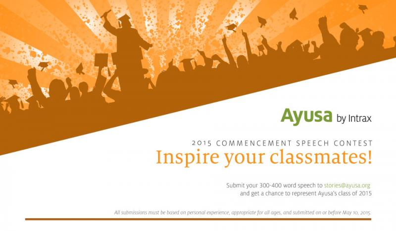 Announcing the Ayusa Commencement Speech Contest