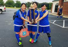 Students from Japan and Taiwan Celebrate Soccer Success in North Carolina